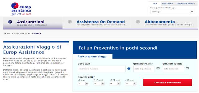 Europ assicurazioni viaggio