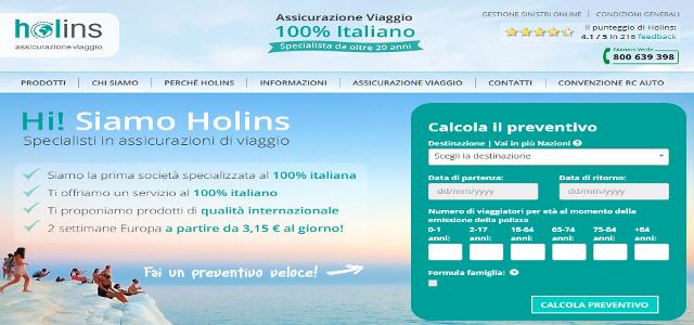 Holins assicurazioni viaggio